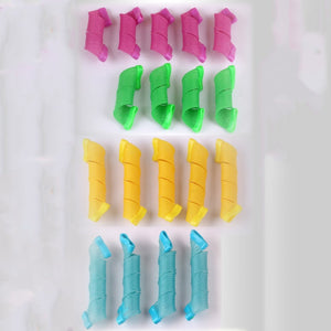 Fashion 18pcs Hair Rollers Snail Rolls Styling Curler Tools
