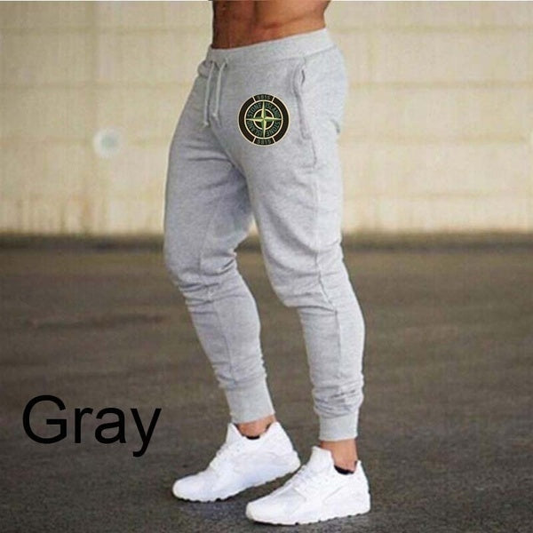 Stone Island Men Autumn and Winter Drawstring Drawstring Elastic Decorated Slim Jogger Pants