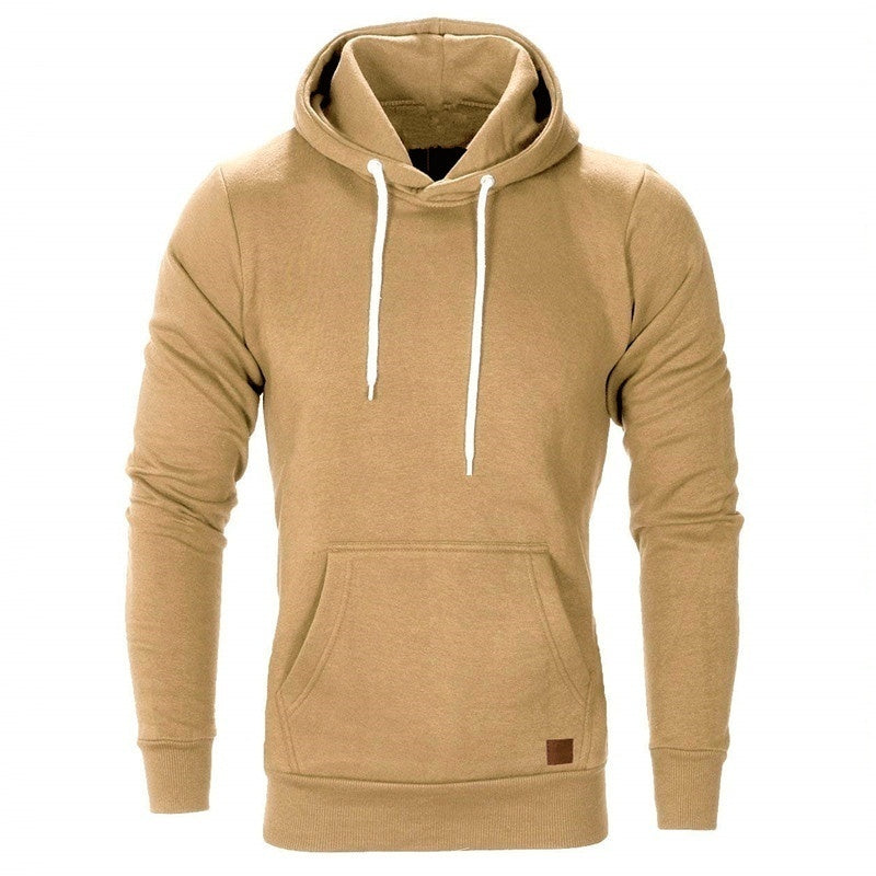 Men's Fashion Pure Color Outdoor Sports Hoodies Sweatshirts Autumn Winter Sweater Jacket Plus Size S-5XL