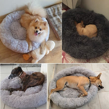 Load image into Gallery viewer, Deluxe Fluffy Extra Large Dog Beds Sofa, Washable Round Dog Pillow Cushion Pet Bed for Large Extra Large Dog