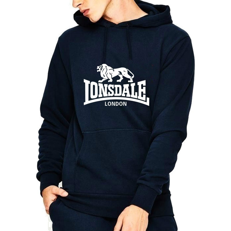 Lonsdale Autumn and Winter Hoodies Men Sweater Print Hoodies Tide Brand Sweater Pullover Hoodie ( 6 Colors