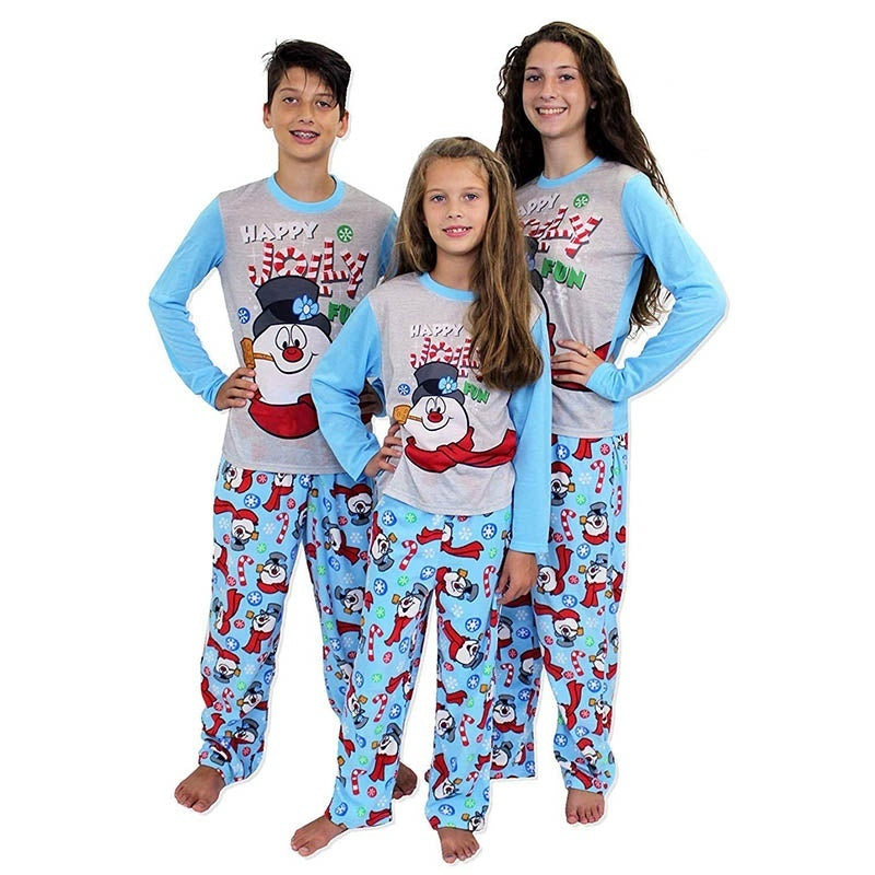 New Fashion Christmas Sleepwear Suit Casual Printed Xmas Romper Pajamas Family Matching Clothing