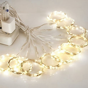 3mX3m/3mX2m/3mX1m/1m Fairy Starry String Lights LED Curtain String Lights Home Bedroom Christmas Party Wedding Decor