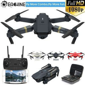 Eachine E58 WIFI FPV Folding Drone with Wide Angle HD Camera High Hold Mode Foldable Arm RC Quadcopter Drone with Storage Bag