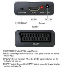 Load image into Gallery viewer, Portable 720/1080P SCART to HDMI/HDMI to SCART Video Audio High-end Scaler Converter Adapter