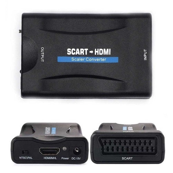 Portable 720/1080P SCART to HDMI/HDMI to SCART Video Audio High-end Scaler Converter Adapter