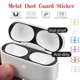 Ultra Thin Metal Dust-proof Guard for Airpods Pro Protection Sticker for Apple Airpods Stickers Decal Skin Cover Film