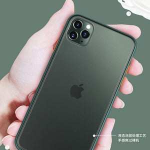 For iPhone 11 iPhone11pro, iPhone11 Pro max, iphone 6/7/8, iPhone 6/7/8plus, iphone11, iPhone x/xs, iPhone xr, iphone xs max case, 2-in-1 two-color phone case
