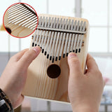 17 Keys Mahogany Kalimba Acoustic Thumb Finger Piano Musical Instrument Diy Painting Kalimba