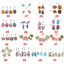 Load image into Gallery viewer, 4/5/6/8pcs Christmas DIY Full Drill Special Shaped Diamond Painting Keychain Pendant Gifts