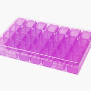 64/59/28pcs Nail Art Box Organizer Storage Jewelry Case Makeup Beauty Tool Diamond Beads Organizer Plastic Container Case Box