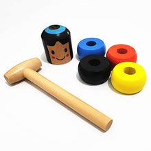Load image into Gallery viewer, Unbreakable Wooden Man Magic Trick Toy (No Magnet) Immortal Daruma Magic Toy Stubborn Wood Man Magic Tricks Props Toys Children Kids