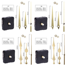 Load image into Gallery viewer, Quartz Clock Movement with Hands for Mechanism Clock Repair Replacement Shaft Length 12mm (9/20 Inch) Thread Length 5mm(1/5 Inch)