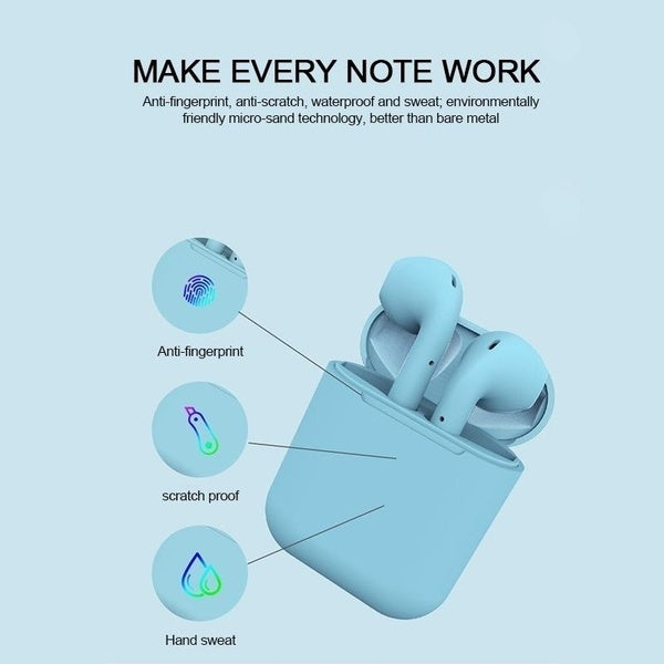 Inpods 12 TWS Bluetooth 5.0 Earphone Mini Wireless Earpod Touch Earbuds Earphones for iPhone Andorid