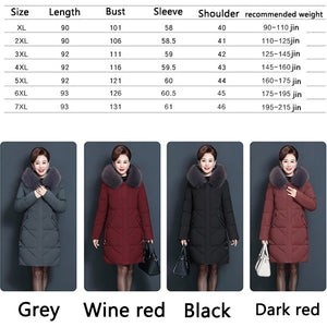 2020 Women's Cotton-padded Jacket Winter Medium-Long Down Cotton Jacket Female Slim Ladies Jackets and Coats Plus Size(M-7XL)