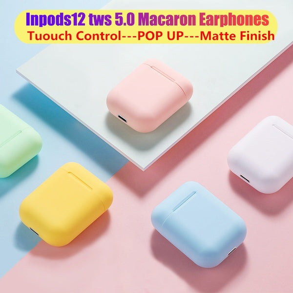 2020 Upgrade InPods I12 TWS Earbuds Wireless Bluetooth V5.0 Earphone Wireless Earphones  HIFI Wireless Headphones with Mic for Iphone Xiaomi Samsung Huawei  Sport Earbuds Headset