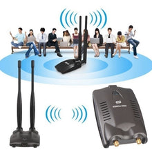 Load image into Gallery viewer, New USB High Power Ralink 3070 Wifi Adapter Decoder Free Internet Long Distance 400m Password Crack Beni Internet Remote Dual Wifi Antenna