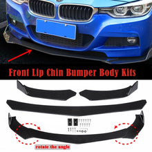 Load image into Gallery viewer, 1 Set Universal Detachable Car Front Bumper Lip Body Kit Front Spoiler For Infiniti Ford Honda Mercedes BMW Audi VW Lexus(Carbon Black/Glossy Black)