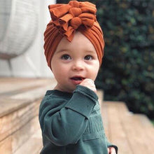 Load image into Gallery viewer, Newborn Headband Hat Cotton Baby Infant Turban Knot Headband Head Wrap For Girls