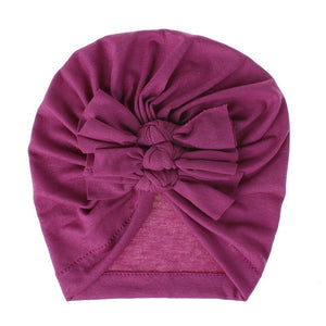 Newborn Headband Hat Cotton Baby Infant Turban Knot Headband Head Wrap For Girls