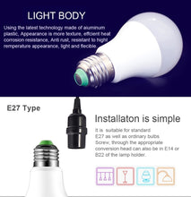 Load image into Gallery viewer, 110V 220V E27 RGB LED Bulb Lights 5W 10W 15W RGB Lampada Changeable Colorful RGBW LED Lamp With IR Remote Control+Memory Mode