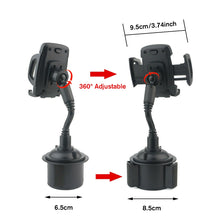 Load image into Gallery viewer, 360¡« Adjustable Car Weather Cup Tech Fone Universal Phone Holder Mount for Mobiles