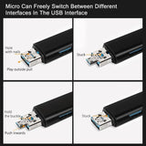 5 In 1 Multifunction Usb 3.0 Type C/Usb /Micro Usb/Tf Memory Card Reader OTG Card Reader Adapter