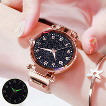 Load image into Gallery viewer, Fashion Women Watches Mesh Magnet Buckle Starry Sky Watch Luxury Ladies Geometric Surface Quartz Watch Gifts