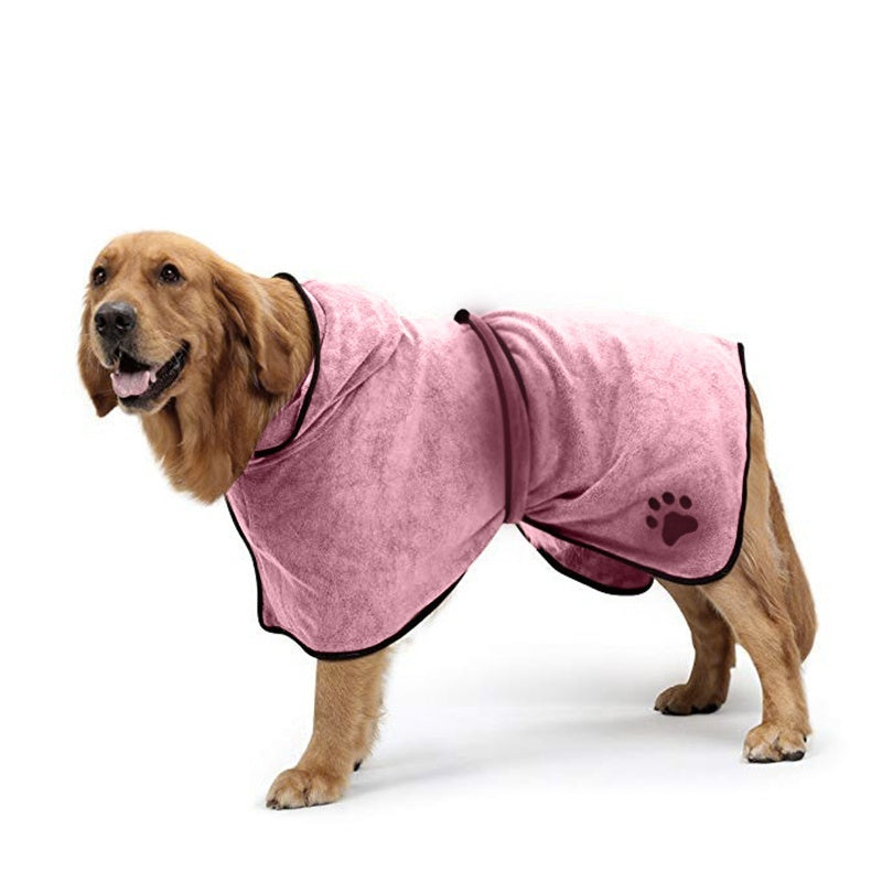 Dog Bathrobe Towel Drying Robes Moisture Absorbing Towels Coat for Dogs