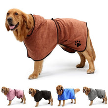 Load image into Gallery viewer, Dog Bathrobe Towel Drying Robes Moisture Absorbing Towels Coat for Dogs