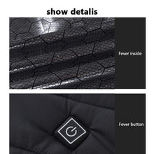 Load image into Gallery viewer, Winter Heated USB Hooded Work Jacket Coats Adjustable Temperature Control Safety Clothing (Three Stall Ajustable Temperature Control)