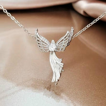 Load image into Gallery viewer, Fashion Creative New 925 Silver Gold Rose Gold Angel Necklace Heart Diamond Necklace Angelwing Necklace