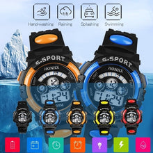 Load image into Gallery viewer, Electronic Luminous Sport Watch Alarm Waterproof Wristwatch Gift for Student Children Kids