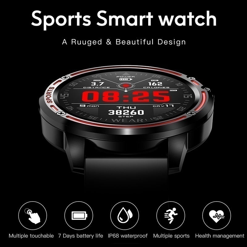 2020 New Men Smart Watch IP68 Waterproof Heart Rate Blood Pressure Blood Oxygen Monitor Fitness Tracker Wristband Bluetooth Wristwatch Smart Band Sport Smartwatch for IOS Android