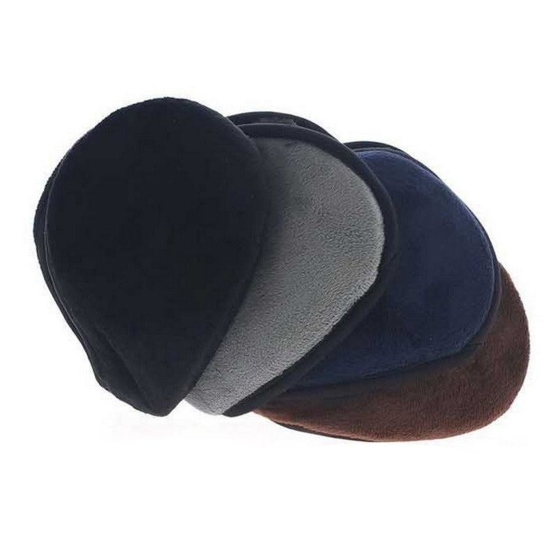 Winter Fleece Warmer Earmuff  Ear Cover Mens Earwarmers Earlap Headband(Color:black,coffee,blue,grey)