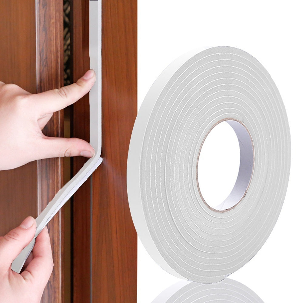 5m Self Adhesive Foam Tape Door Sealing Strip Noise Insulation Anti-Collision Window Gap Draught Excluder