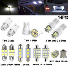 Load image into Gallery viewer, 14Pcs LED Interior Package Kit For T10 36mm Map Dome License Plate Lights White