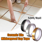 50M/Roll Ceramic Waterproof Mildewproof Decorative Gap Bathroom Kitchen Wall Sticker Self Adhesive Floor Tile Tape Home Decoration 3 Colors