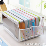 Colorful Microwave Cover Waterproof Oil Proof Double Pocket Microwave Storage Bag Dust Cover