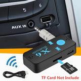 Car Bluetooth AUX Receiver Adapter Handsfree 3.5mm Interface Audio Car MP3 Music Receiver Support TF Card