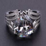 1pcs Creative  Diamond Engagement Dripping Pear-shaped Zircon Women's Ring