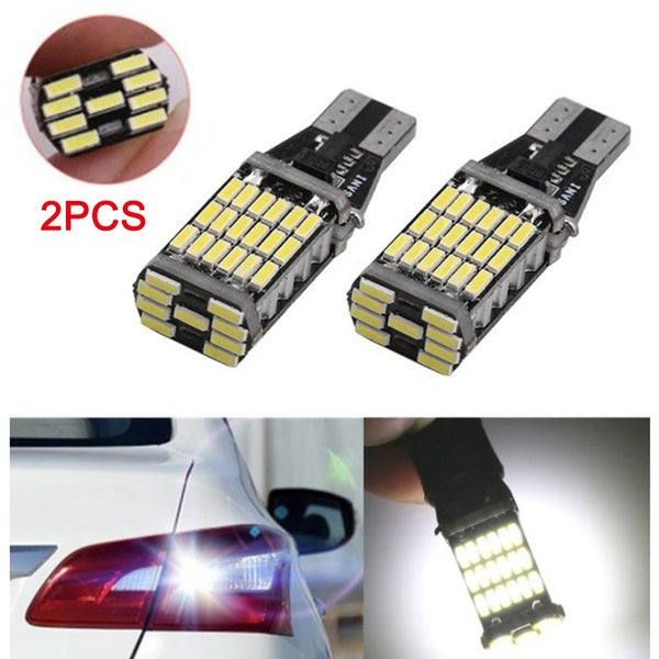 2Pcs Car LED Decoding Reversing Lamp Taillight T15 4014 45SMD Brake Light