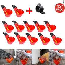 Load image into Gallery viewer, Feed Automatic Bird Coop Poultry Chicken Drinker Water Drinking Cups 12Pcs