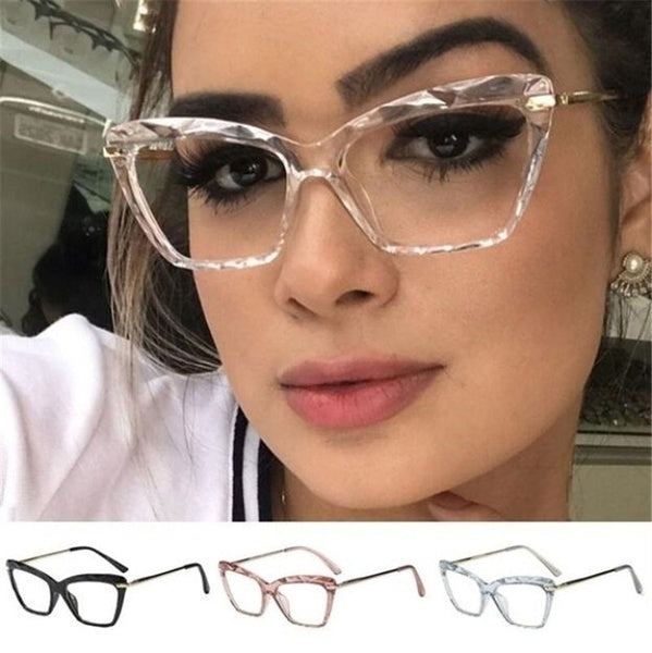 1 Pcs Fashion  Cat Eye Glasses Frame Clear Lens Metal Vintage Women's Eyeglass Frame