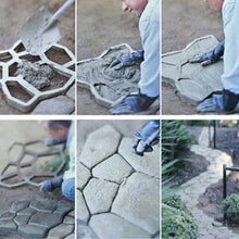 Load image into Gallery viewer, Path Maker Mold Reusable Concrete Cement Stone Design Paver Walk Mould Reusable