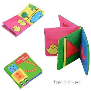New Baby Early Learning Intelligence Development Cloth Cognize Fabric Book Educational Toys