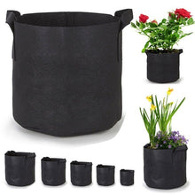 Load image into Gallery viewer, 1/2PCS Black Plants Growing Bag Vegetable Flower Aeration Planting Pot Container  Planting 1/2/3/5/7/10/15 Gallon