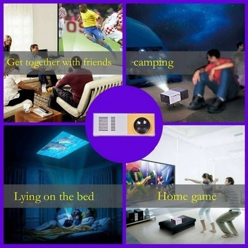 Fashion  LCD LED Mini Projector Home Media Movie Player Support 1080P 320 x 240 HDMI / USB / AV / CVBS for Home School Indoor