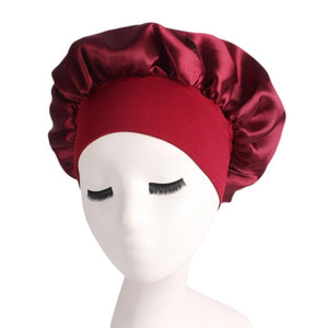Women Casual Comfortable Sleep Night Cap Long Hair Care Bonnet Headwrap
