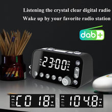 Load image into Gallery viewer, Portable Digital DAB/DAB+ FM Radio Stereo Player LED Alarm Clock bluetooth AUX